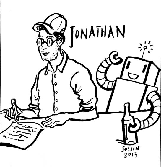 A sketch of Jonathan by Justin