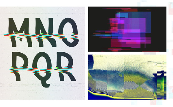 """""""Glitch"""", distorted images that represent the darker side of technology."""